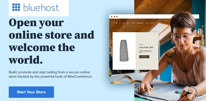 Bluehost for online store
